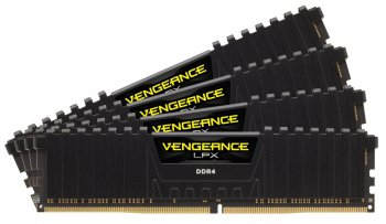 Оперативная память DDR4 4x8Gb 2666MHz Corsair (CMK32GX4M4A2666C16) unbuffered Ret