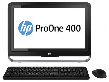 "Моноблок HP ProOne 400 AIO 19.5"" 1600x900 i3 4130T/4Gb/1Tb 7.2k/DVDRW/Win 8.1 Pro down to Win7 Pro 64/WiFi/BT/клавиатура/мышь"
