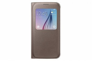Чехол Samsung для Samsung Galaxy S6 S View Cover золотистый (EF-CG920PFEGRU)