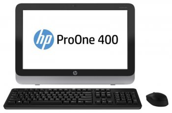 "Моноблок HP ProOne 400 AIO 23"" 1920x1080 i3 4150T/4Gb/500Gb/DVDRW/Free DOS/WiFi/BT/клавиатура/мышь"