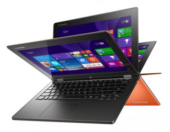 "Ноутбук Lenovo IdeaPad YOGA2-11 Pentium Dual-Core N3520/4Gb/500Gb/SSD16Gb/Intel HD Graphics HD 4400/11.6""/FWXGA (1366x768)/Windows 8.1/orange/WiFi"