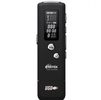 Диктофон Ritmix RR-650 4Gb Black Mic SP MP3 USB Acl