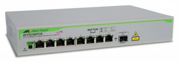 Коммутатор Allied Telesis (AT-FS708/POE) 8 port 10/100 unmanaged POE with 1 SFP uplink