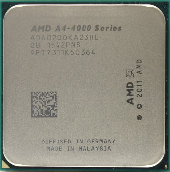 Процессор AMD A4-4020 (AD4020O) 3.2 GHz/2core/SVGA RADEON HD 7480D/ 1 Mb/65W/5 GT/s Socket FM2