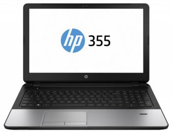 "Ноутбук hp 355 A6 6310/4Gb/500Gb/DVD-RW/15.6""/FWXGA (1366x768)/Windows 8.1 64 dwnW7Pro64/WiFi/BT/Cam/Bag"