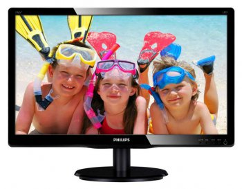 "Монитор Philips 18.5"" 196V4LSB2 (10/62) Glossy-Black TN LED 5ms 16:9 10M:1 200cd"