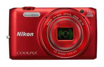 "Фотокамера Nikon CoolPix S6800 red 16Mpix Zoom12x 3"" 1080 25Mb SDHC opt turLCD WiFi Li-Ion"