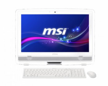 "Моноблок MSI AIO AE220-044RU AIO E2-3000 1037U (1.8)/4Gb/500Gb/HD8330 2Gb/DVDRW/Windows 8.1/WiFi/клавиатура/мышь/Cam/белый 21.5"" 1920x1080"