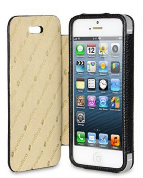 Чехол Melkco для iPhone 5 Dairy Book Type LC черный