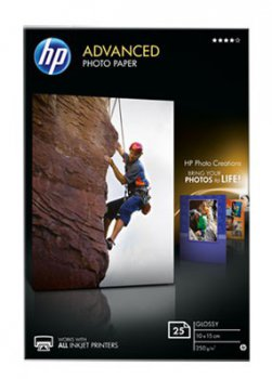 Бумага HP Q8691A 10x15 Advanced Glossy Photo, 250 g/m, (25 sheets)
