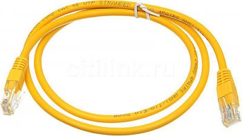 Кабель UTP Patchcord molded 5E Copper 1m Yellow