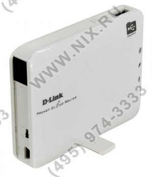 Маршрутизатор D-Link <DIR-506L /A2A> Wireless Mobile Router (1UTP 10/100Mbps,802.11b/g/n, USB, 150Mbps)