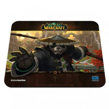 Коврик для мыши Steelseries SteelSeries QcK WOW Mists of Pandaria Panda Monk 67244 черный