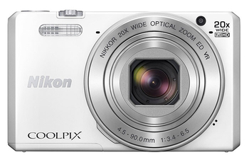 "Фотокамера Nikon CoolPix S7000 белый 16Mpix Zoom20x 3"" 1080p 20Mb SDXC CMOS IS opt 2minF HDMI/WiFi/EN-EL19"