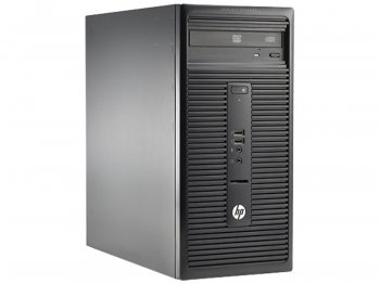 Системный блок HP 280 G1 MT Cel G1840 (3)/4Gb/500Gb/DVDRW/Windows 8.1 Professional dwnW7Pro64/Eth/клавиатура/мышь/черный