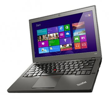 "Ноутбук Lenovo ThinkPad X240 Core i3-4030U/4Gb/500Gb/HD4400/12.5""/HD/Mat/Free DOS/black/BT4.0/3+6c/WiFi/Cam"