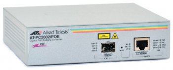 Медиаконвертер Allied Telesis (AT-PC2002POE) 10/100/1000T to fiber SFP, (PoE)