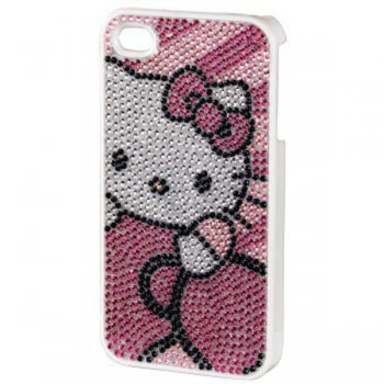Чехол Hello Kitty H-107320 pink для Apple iPhone 4/4S пластик стразы
