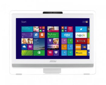 "Моноблок MSI AE200-067RU 19.5"" HD Touch E2-3800/4Gb/500Gb/HD8280/DVDRW/W7HP/WiFi/white/250cd/1000:1 1600*900/Web/клавиатура/мышь"