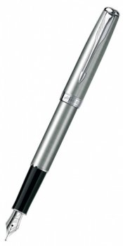 Ручка перьевая Parker Sonnet F526 ESSENTIAL Stainless Steel CT перо F