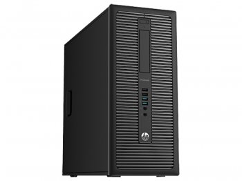 Системный блок HP ProDesk 600 G1 MT i5 4590 (3.2)/4Gb/500Gb 7.2k/HD8490 1Gb/DVDRW/Windows 8 Professional 64 dwnW7Pro64/GbitEth/клавиатура/мышь/черный