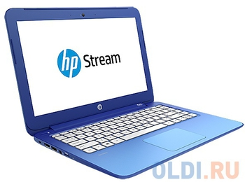 "Ноутбук hp Stream 13-c050ur Celeron N2830/2Gb/SSD32Gb/Intel HD Graphics/11.6""/Touch/HD (1366x768)/3G/Windows 8.1 64/blue/WiFi/BT/Cam"