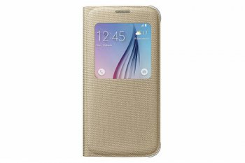 Чехол Samsung для Samsung Galaxy S6 S View Cover золотистый (EF-CG920BFEGRU)