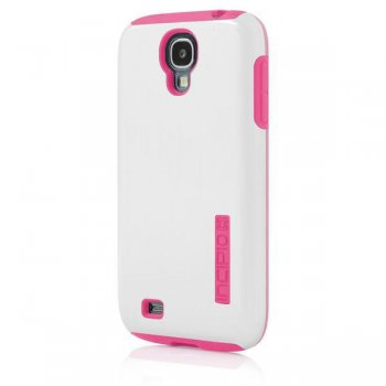 Чехол Incipio для Galaxy S 4 DualPro Shine Optical White/Hot Pink