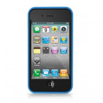 Чехол iLuv для iPhone4S Edge blue (ICC741BLU)