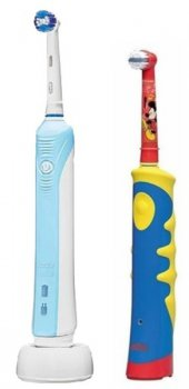 Зубная щетка Braun Oral-B Professional Care 500 + Oral-B Mickey Kids Free белый