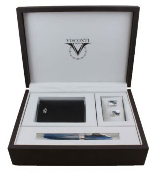 Набор подарочный Visconti Salvador Dali roller+cufflinks+wallet (004-124-66518-015) синий
