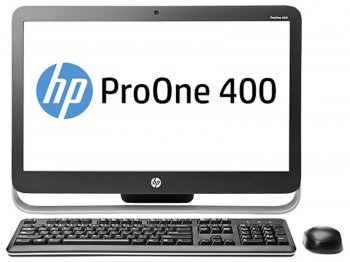 "Моноблок HP ProOne 400 AIO 23"" HD i3 4130T/4Gb/500Gb/DVDRW/W8.1 64EM/WiFi/BT/клавиатура/мышь"