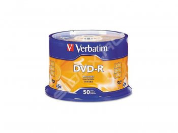 Диск DVD-R Verbatim 4.7Gb 16x Cake Box (50шт) Printable (43755)