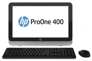 "Моноблок HP ProOne 400 AIO 19.5"" HD Cel G1820T/4Gb/500Gb 7.2k/DVDRW/DOS/WiFi/BT/клавиатура/мышь"