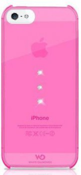 Чехол White Diamonds для iPhone5 Trinity Pink пластик Swarovski (WD-1210TRI41)