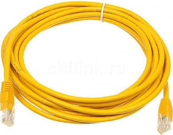 Кабель UTP Patchcord molded 5E Copper 5m yellow
