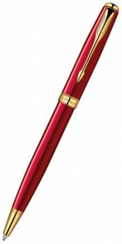 Ручка шариковая Parker 1859472 Sonnet K539 ESSENTIAL LaqRed GT Mblack