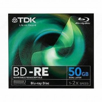 Диск BD-R TDK 50 2 Jewel case (5шт) Double Layer (T19796)
