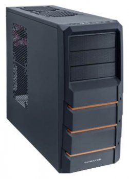 Корпус Xigmatek ASGARD 382 black orange w/o PSU ATX 2*USB3.0 1*USB2.0 audio HD 2*120mm fan