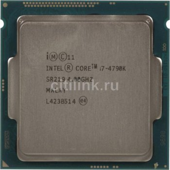 Процессор Intel Original Core i7 X4 i7-4790K Socket-1150 (CM8064601710501S R219) (4.0/5000/8Mb/Intel HDG4000) OEM