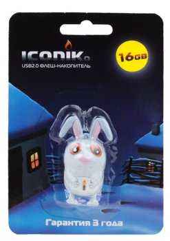 Накопитель USB 16GB <USB 2.0> ICONIK Кролик
