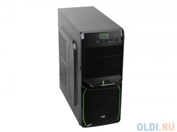 Корпус Aerocool V3X Advance Green Edition, ATX, 700Вт (KCAS-700W), USB 3.0 , коннекторы 2x PCI-E (6+2-Pin), 7x SATA, 4x MOLEX, 1x 4+4-Pin