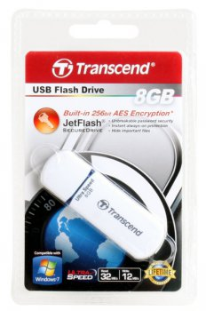 Накопитель USB Transcend 8Gb Jetflash 620 TS8GJF620 USB2.0 белый