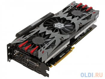 Видеокарта 4096 Мб <PCI-E> Inno3D GTX970 (i-Chill) X4 AIR BOSS c CUDA <GFGTX970, GDDR5, 256 bit, HDCP, DVI, HDMI, 3*DP, 3*Fan, Retail>
