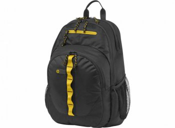 "Сумка для ноутбука 15.6"" HP F3W17AA Sport Backpack (Black/Yellow)"