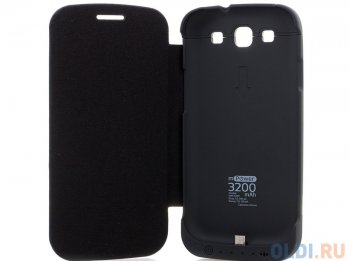 Чехол с аккумулятором Gmini mPower Case MPCS30F Black, для Galaxy S3, 3200mAh, Flip cover