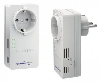 Адаптер Powerline (HomePlug) Netgear (XAVB5602-100PES) Powerline AV 500 Мбит/с, 2xLAN. 2 x XAV5602