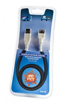Кабель PC PET USB2.0 Am-Af extention cable 5m