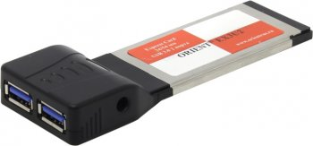 Адаптер интерфейса Orient <EX3U2> Adapter Express Card/34mm-->USB3.0 2 port + Б.П.