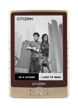 "Электронная книга Citizen E610B 6"" E-Ink Pearl 600x800 600Mhz 128Mb/2Gb/microSDHC бордо"